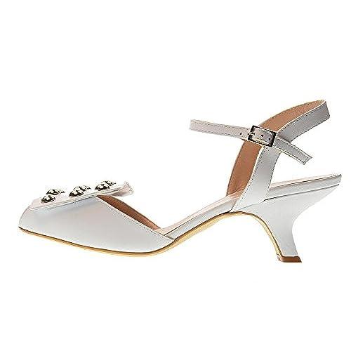 Mujer Ovye Blanco Av1406 Zapatos Damiancosta es Delicado Sandalias 6TZEZq