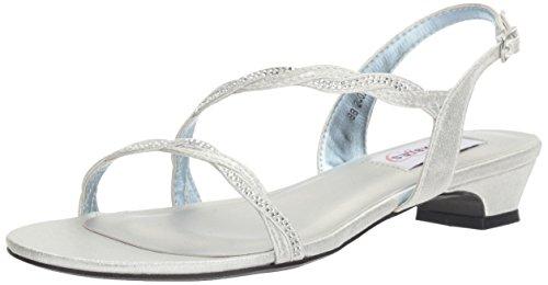 Dyeables, Inc Womens Women's Jasper Dress Sandal, Silver, 8 M US