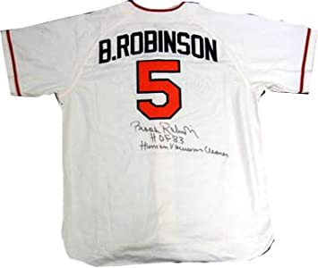 f8193e62b8d Image Unavailable. Image not available for. Color  Brooks Robinson Signed  PSA DNA Inscribed Jersey-Official