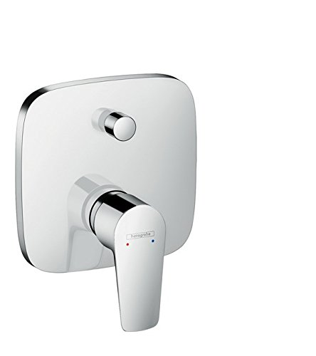 Hansgrohe Talis E Flush Mounted Bath Mixer Tap Ready-To-Fit Set Chrome With Safety Combination 71474000