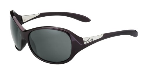 Bolle Women's Grace Sunglasses, Shiny Plum Frame, True Neutral Smoke - Bolle Womens Sunglasses