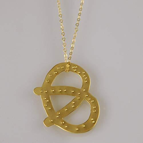 Gold Pretzel with Salt Necklace