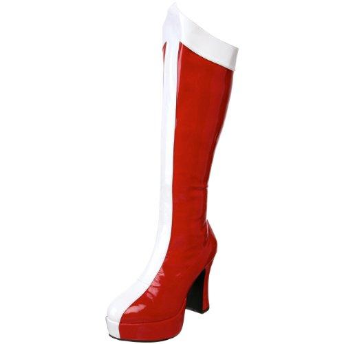 Funtasma by Pleaser Women's Exotica-305 Platform Boot,Red/White Str. Patent,9 M US