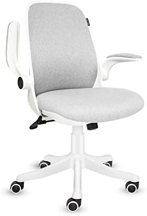 FINEWISH Home Office Chair Ergonomic Mid Back Swivel Desk Chair Fabric Office Computer Swivel Adjustable Rolling Task Chair Executive Chair