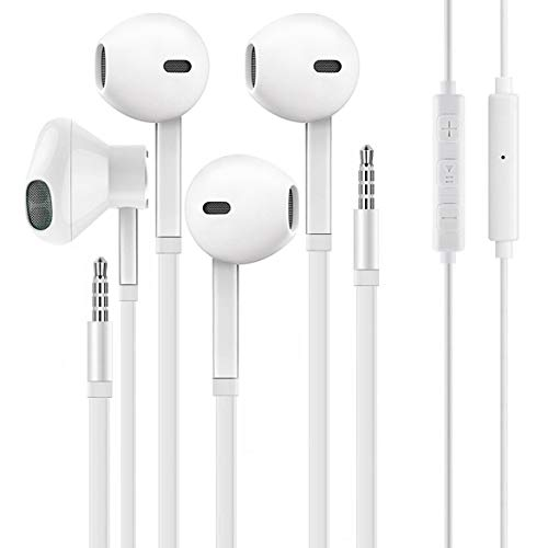 【2 Pack】 Aux Headphones,Ear Phones,Earphones, Noise Islating, High Definition, All 3.5mm Interface Stereo Compatible…