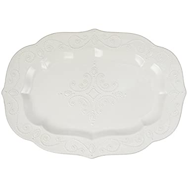 Lenox French Perle Large Serving Platter, White