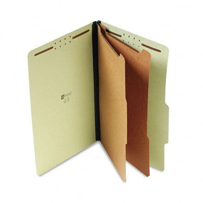 Universal : Pressboard Classification Folder, Legal, 6-Section, Green, 10 per Box -:- Sold as 2 Packs of - 10 - / - Total of 20 Each by Universal