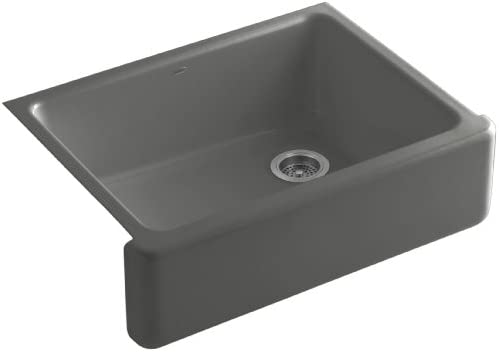 KOHLER K-6487-58 Whitehaven Farmhouse Self-Trimming Apron Front Single Basin Kitchen Sink