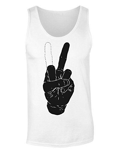 Tricky Peace Sign Hand Gesture T-shirt senza maniche per Donne Shirt