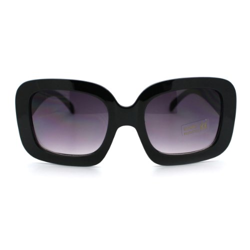 Rectangular Plastic Frame Sunglasses - 8