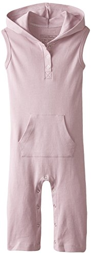 L'ovedbaby Baby Girl Organic Sleeveless Overall with Hood, Lavender, 18/24 Months
