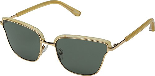Elizabeth and James Women's Empire Sunglasses, Sunshine Horn Gold/Green, One - Elizabeth Sunglasses