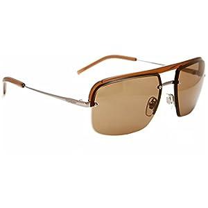 Yves Saint Laurent Men's 2306 Light Brown / Ruthenium Frame/Brown Lens Metal/Plastic Sunglasses
