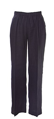 Marina Rinaldi Women's Renna Casual Flax Pants, Navy, 12W/21 by Marina Rinaldi by Max Mara (Image #1)