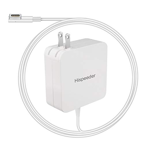 Hispeeder Power Charger, 60W (L-Tip) Adapter Charger Replacement Ac Charger Compatible with MacBook and MacBook Pro 13 Inch (Before Mid 2012 Models) (White)