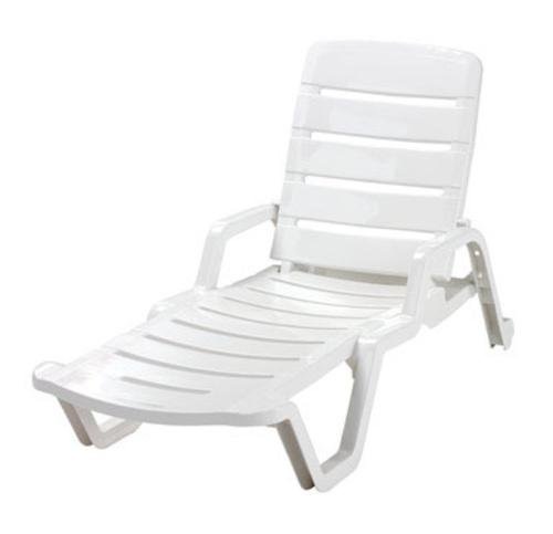 Adams Chaise Lounge 65″ L X 27″ W X 36.75″ H White For Sale