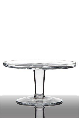 INNA Glas Set 2 x Plato para Tarta Charly con pie, Circular/Redondo, Transparente, 10cm, Ø20cm - Juego de Cuencos/Pack de tarteras: Amazon.es: Hogar
