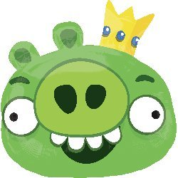 Angry Birds King Pig Mylar