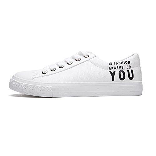 EU40 Chaussures De de Plein Noir Chaussures YIXINY Lacets taille CN41 Décontractées Roulettes De Air Simple Noir Couleur Planche Chaussures Blanc À H14M7701 Chaussures sport À Blanc UK7 g5d1qwX