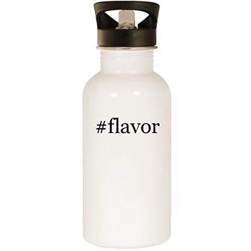 #flavor - Stainless Steel Hashtag 20oz Road Ready Water Bottle, White