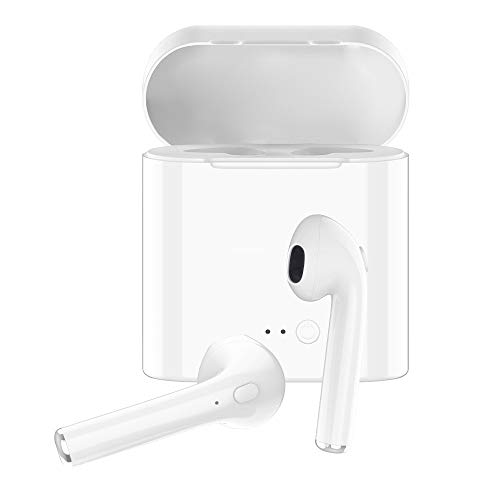 Wireless Earbuds Bluetooth Headphones,Bluetooth 5.0 Auto Pairing in-Ear Headphones with Portable Case Wireless Charging Case(White)