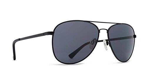 VonZipper Adults Farva Sunglasses, Black Satin/Grey Lens One - Farva Sunglasses