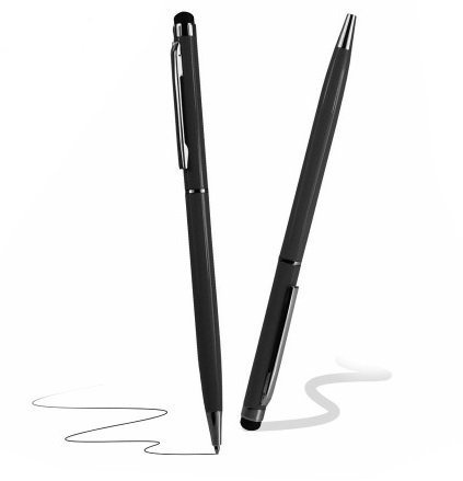 Deet® reg;, Penna capacitiva per display Touch Screen, con penna Biro [2-in-1], colore: nero Deet®