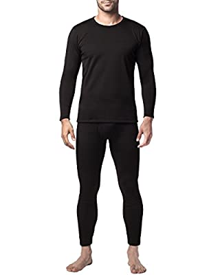 Lapasa Men's Heavyweight Thermal Underwear Set Base Layer Fleece Lined Long Sleeve Top & Bottom for Extreme Cold Winter M24