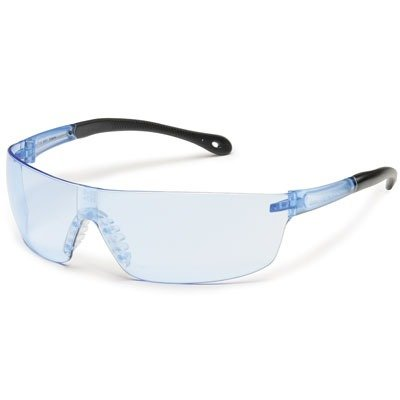 Gateway Safety glasses, Protective Eyewear - Blue Temple Pacific Blue Lens - StarLite - Pacific Eyewear