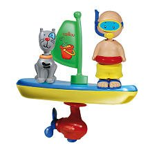 Caillou Wind up Bathtime Vehicles, Baby & Kids Zone