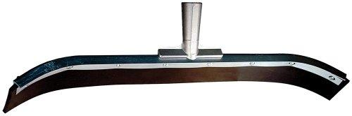 PFERD 89479 Heavy Duty Curved End Floor Squeegee with Cadmium Steel Frame, Neoprene Blade, 2-1/2