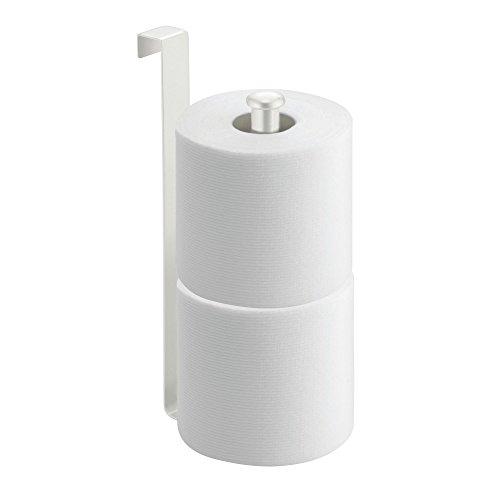 (InterDesign Classico Metal Toilet Paper Reserve, Over the Tank Tissue Organizer for Bathroom Storage, 2