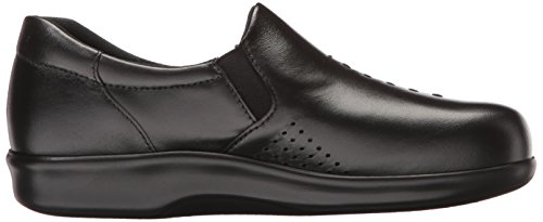Slip Da Donna Nero In Pelle Viva Slip On Comfort Shoes Nero