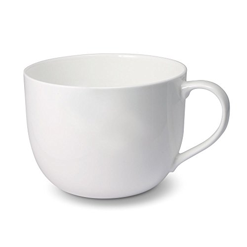 Mikasa Lucerne White Jumbo Soup Mug, 29-Ounce, White (Mug Ceramic Jumbo)
