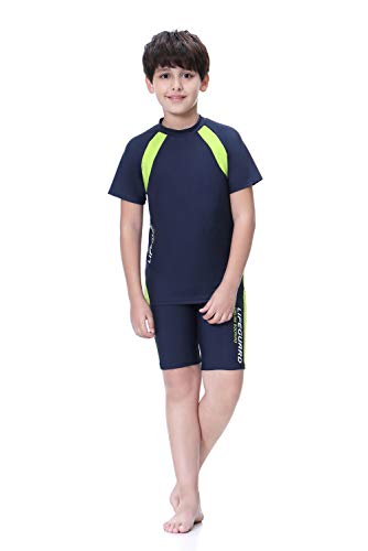 KID1234 Swimsuits for Boys - 2 Piece Set Boys Swimsuit,Wetsuit for Kids 4-12 Years ... Navy