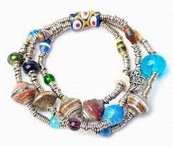 Kenya Handcrafted (Fairtrade Fair Trade Angelic 3-strand Stretch Bracelet Handcrafted in Kenya Africa with Recycled Materials)