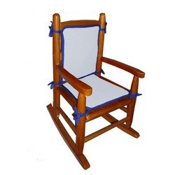 Two Tone Child Rocking Chair Cushion, Color: Blue and Royal Blue by BabyDoll Bedding