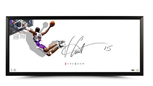 Autographed Vince Carter Photograph - Autograph 20X46 Framed The Show Horizontal - Upper Deck Certified