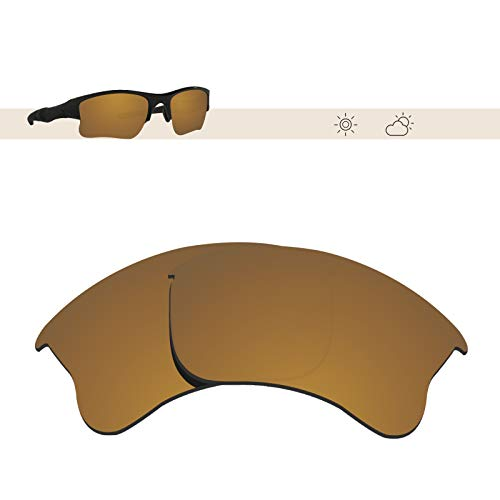 Glintbay 100% Precise-Fit Replacement Sunglass Lenses for Oakley Flak Jacket XLJ - Polarized Bronze Gold Mirror ()