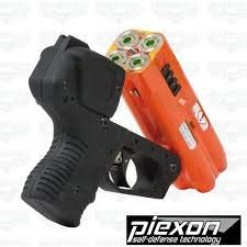 4 Shot LED Laser Pepper Spray Gun Orange Bundle with Cordura Paddle Holster by Piexon (Image #3)