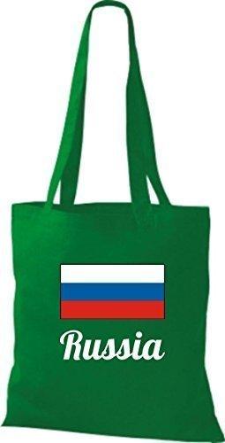 ShirtInStyle Bolso de mano Bolsa de algodón Yute de país Rusia Rusia - fucsia, 38 cm x 42 cm kelly