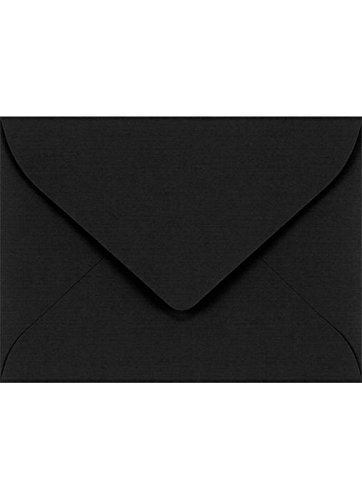 #17 Mini Gift Card Envelopes (2 11/16 x 3 11/16) - Black Linen (250 Qty.) | Perfect for The Holidays, Holding Place Cards, Gift Cards, Notes, and Flower Arrangement Cards | LEVC-BLI-250