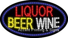 Liquor Beer Wine Flashing & Animated Real LED Sign