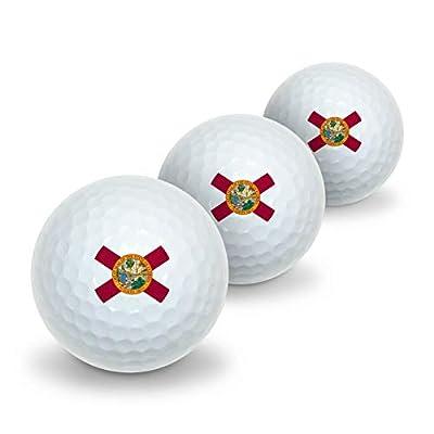 GRAPHICS & MORE Florida State Flag Novelty Golf Balls 3 Pack