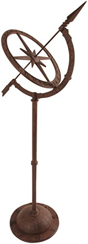 Esschert Design Cast Iron Sundial on Stand (Zodiac Sundial)