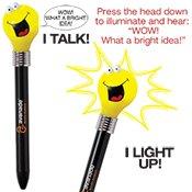 Goofy Light Bulb Pen 150 QUANTITY- $2.51 EACH PROMOTIONAL PRODUCT / BULK / BRANDED with YOUR LOGO / (Logo Light Pen)