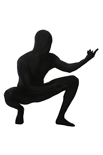 Full Body Color Suit (Mens High Elastic Lycra Spendex Bodysuit Zip up Zentai Full Body Costume Many Colors)