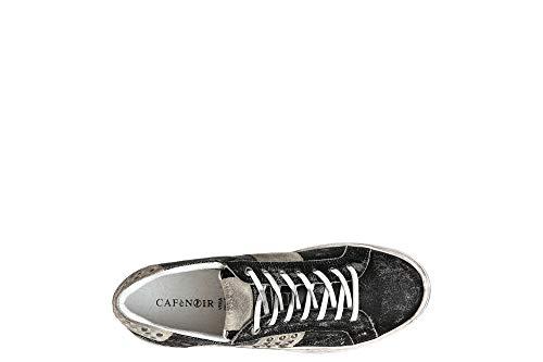 Sneakers Nero Cafènoir Scarpe Pelle Borchie Lacci Uomo Pc132 pxTnSR