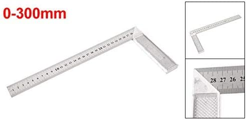 Square L-shaped angle ruler measuring tool for aluminum 0 mm to 300 mm