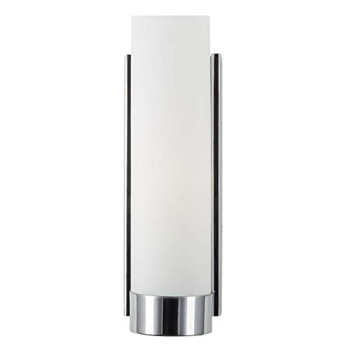 Elina Bathroom Vanity Light - Chrome w/ Frosted Shade - Linea di Liara ()